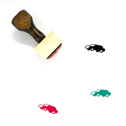 Car Wooden Rubber Stamp No. 463