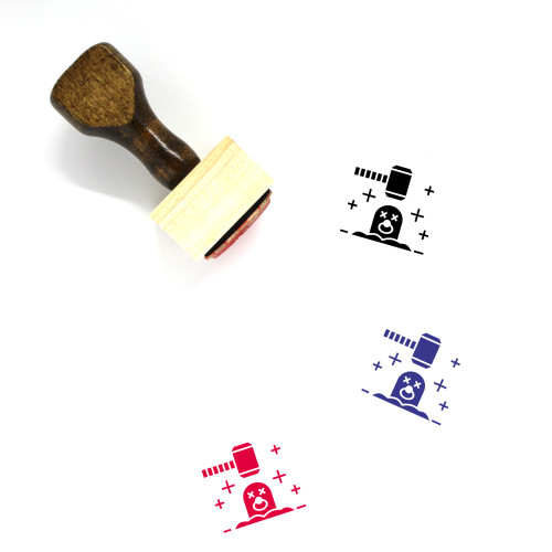 Mole Wooden Rubber Stamp No. 23