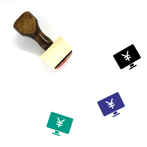 Yuan Monitor Wooden Rubber Stamp No. 2