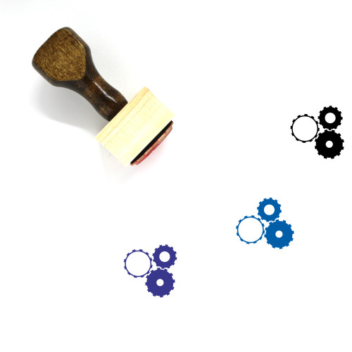 Gears Wooden Rubber Stamp No. 93