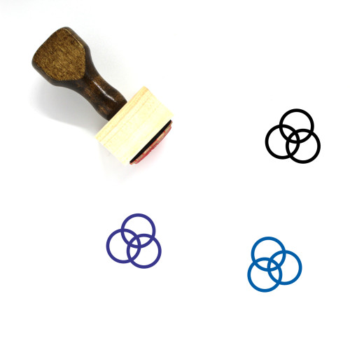 Color Wooden Rubber Stamp No. 22