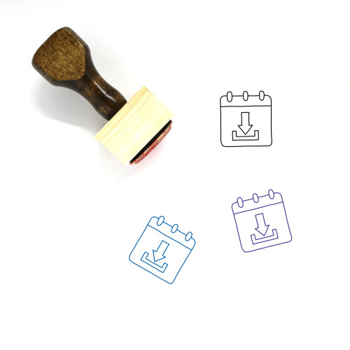 Download Notepad Wooden Rubber Stamp No. 7