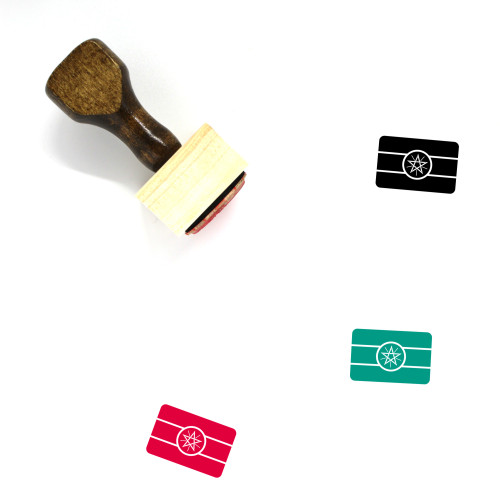 Ethiopia Wooden Rubber Stamp No. 39