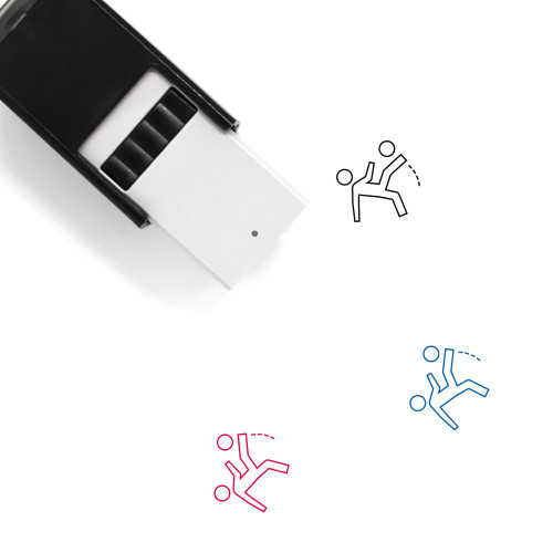 Soccer Player Self-Inking Rubber Stamp No. 16