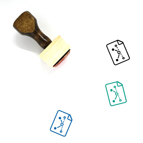 Vector Wooden Rubber Stamp No. 51
