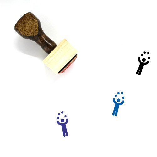 Juggle Wooden Rubber Stamp No. 8
