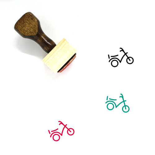 Bicycle Wooden Rubber Stamp No. 202