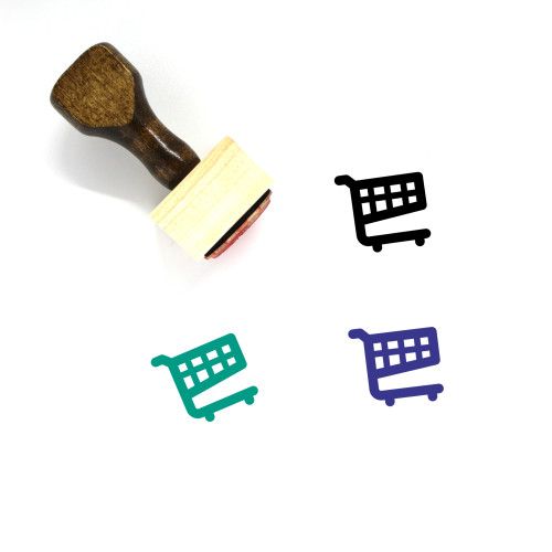 Shopping Cart Wooden Rubber Stamp No. 337