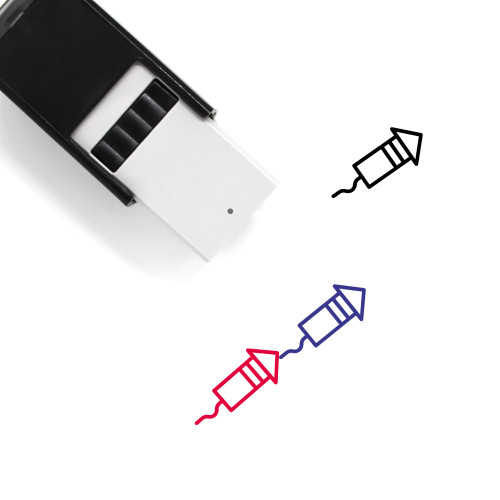 Fireworks Self-Inking Rubber Stamp No. 147