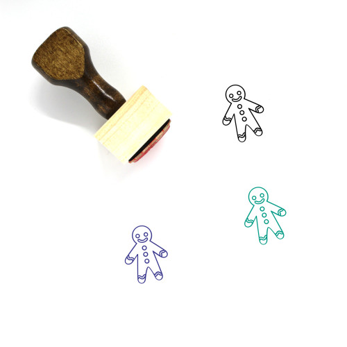 Gingerbread Man Wooden Rubber Stamp No. 116