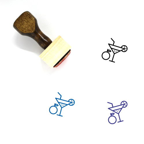 Fresh Juice Wooden Rubber Stamp No. 9