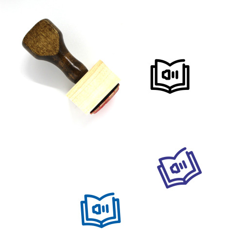 Audio Book Wooden Rubber Stamp No. 37