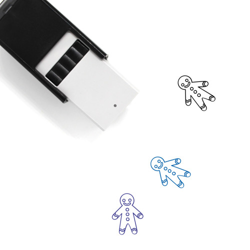 Gingerbread Man Self-Inking Rubber Stamp No. 116