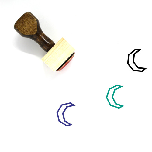 Crescent Moon Wooden Rubber Stamp No. 41