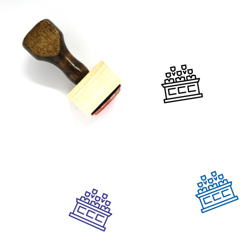 Jury Wooden Rubber Stamp No. 7