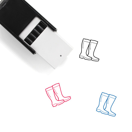 Camping Boots Self-Inking Rubber Stamp No. 4