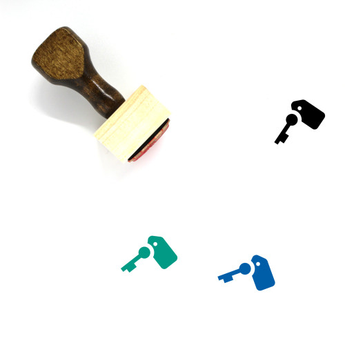 Key Wooden Rubber Stamp No. 183
