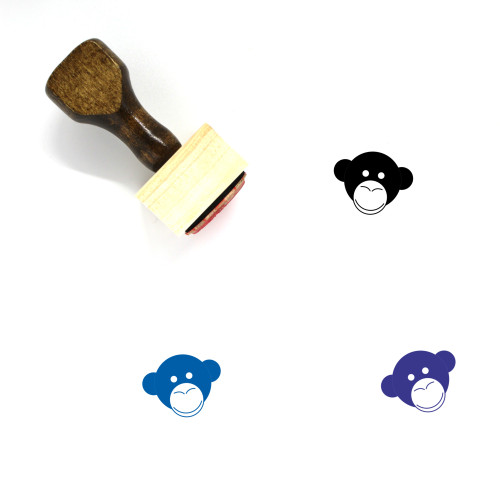 Monkey Wooden Rubber Stamp No. 57