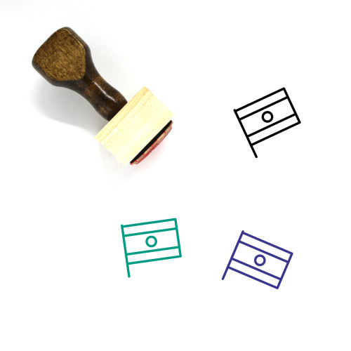 India Wooden Rubber Stamp No. 47