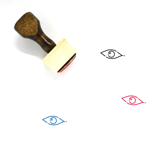 Eye Wooden Rubber Stamp No. 498