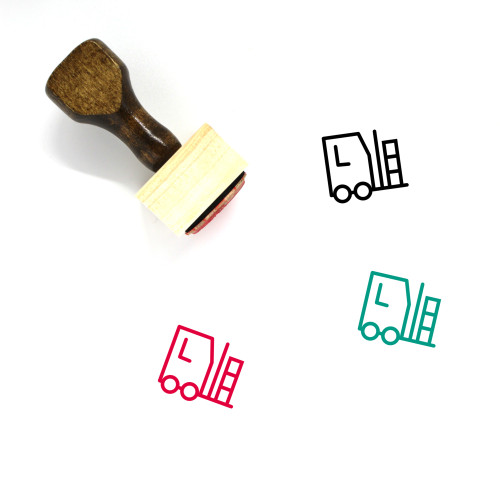 Packages Crane Wooden Rubber Stamp No. 1