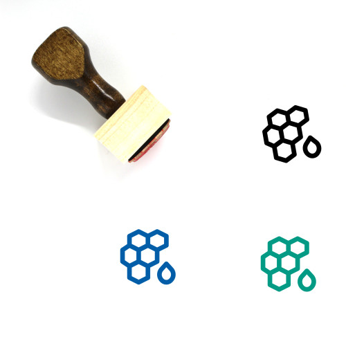 Honey Comb Wooden Rubber Stamp No. 38