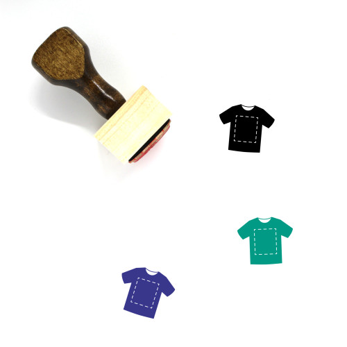 T Shirt Wooden Rubber Stamp No. 134