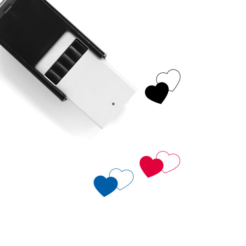 Love Hearts Self-Inking Rubber Stamp No. 9