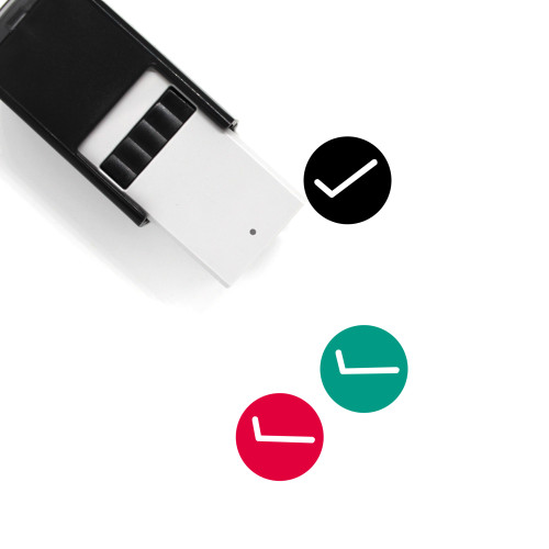 Tick Mark Self-Inking Rubber Stamp No. 1