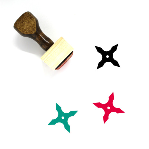 Shuriken Wooden Rubber Stamp No. 51