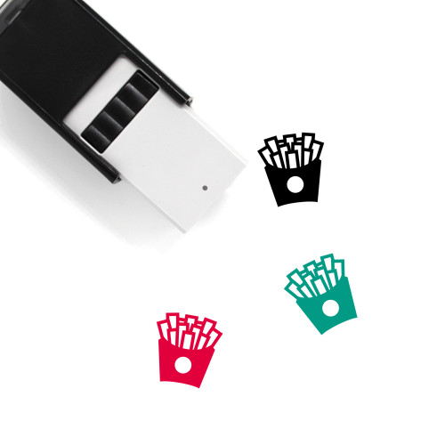 French Fries Self-Inking Rubber Stamp No. 68