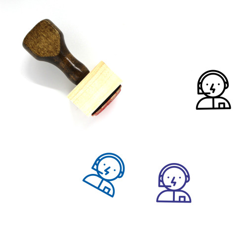 Tech Support Wooden Rubber Stamp No. 16
