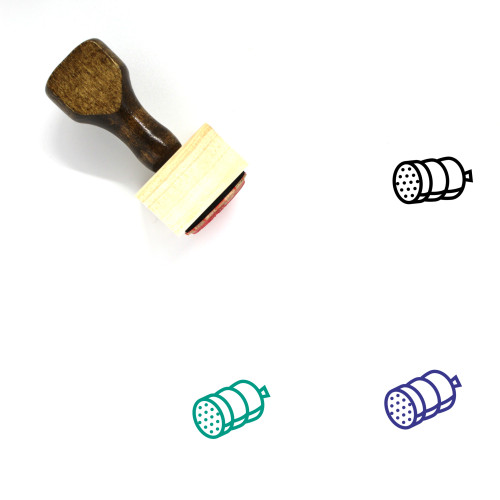 Sausage Wooden Rubber Stamp No. 67