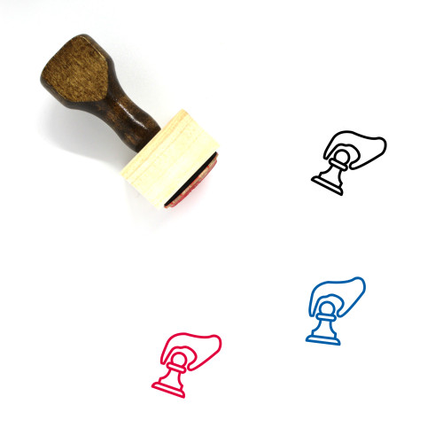 Movement Wooden Rubber Stamp No. 25