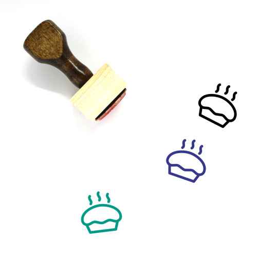 Muffin Wooden Rubber Stamp No. 29