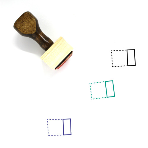 Align Right Horizontally Wooden Rubber Stamp No. 2