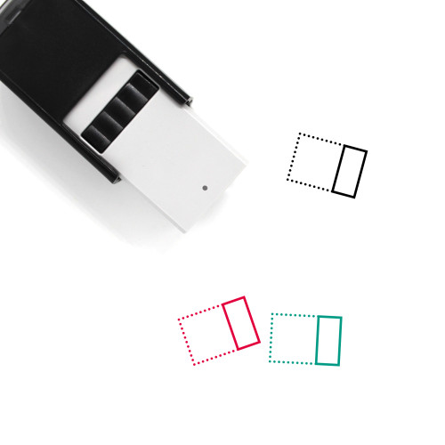 Align Right Horizontally Self-Inking Rubber Stamp No. 2