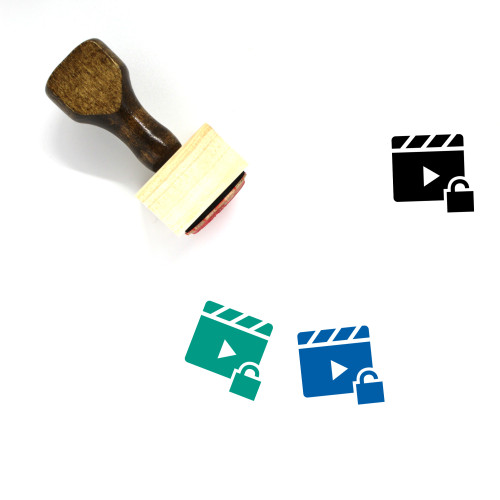 Video Unlocked Wooden Rubber Stamp No. 1