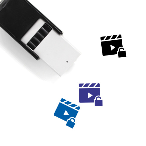 Video Unlocked Self-Inking Rubber Stamp No. 1