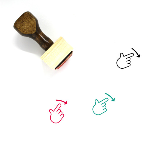 Swipe Right Wooden Rubber Stamp No. 42