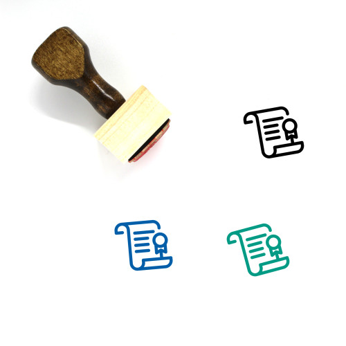 Diploma Wooden Rubber Stamp No. 44