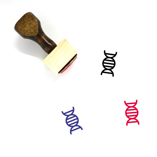 DNA Wooden Rubber Stamp No. 188