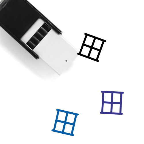 Window Self-Inking Rubber Stamp No. 150