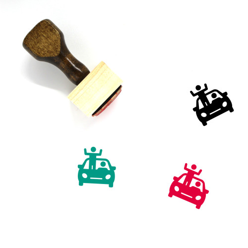 Driving Wooden Rubber Stamp No. 8