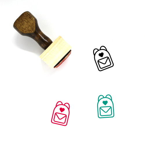 Bags Wooden Rubber Stamp No. 119