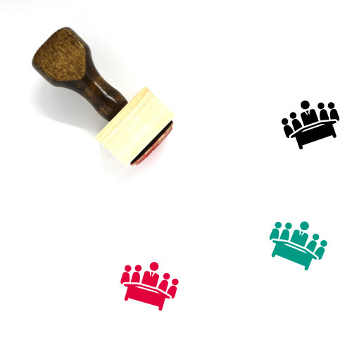 Business Meeting Wooden Rubber Stamp No. 41