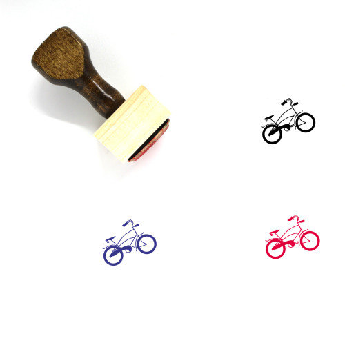 Beach Cruiser Wooden Rubber Stamp No. 5