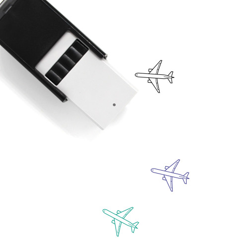 Airplane Self-Inking Rubber Stamp No. 363