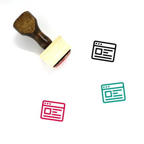 Website Wooden Rubber Stamp No. 99