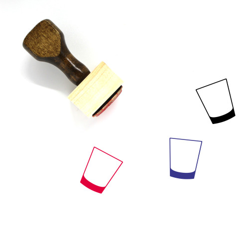 Simple Cocktail Glass Wooden Rubber Stamp No. 1